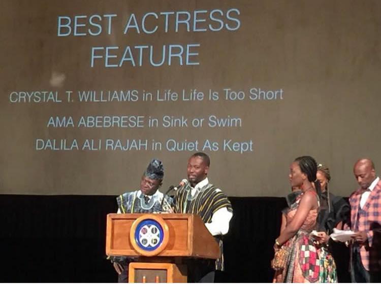 Ama K Abebrese Wins Best Actress at Newark International Film Festival