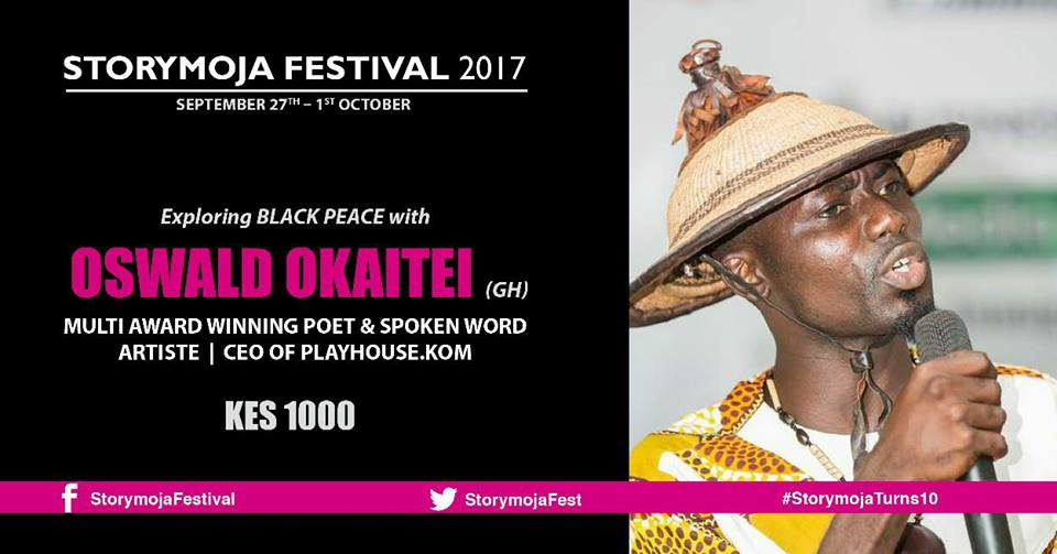 Oswald represents Ghana at Storymoja Festival