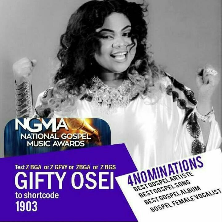 Gifty Osei Gets Four Nominations For This Year's Ghana Gospel Music Awards
