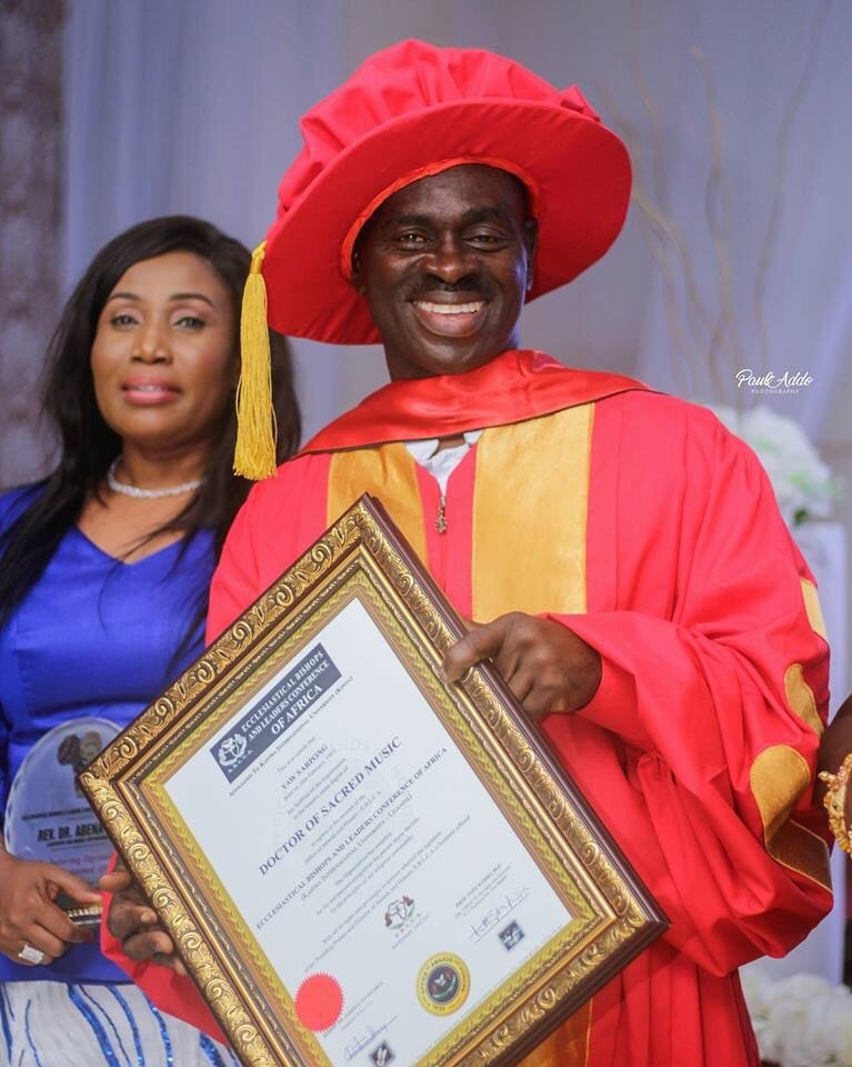 Congratulations! Musician Yaw Sarpong Receives Honorary