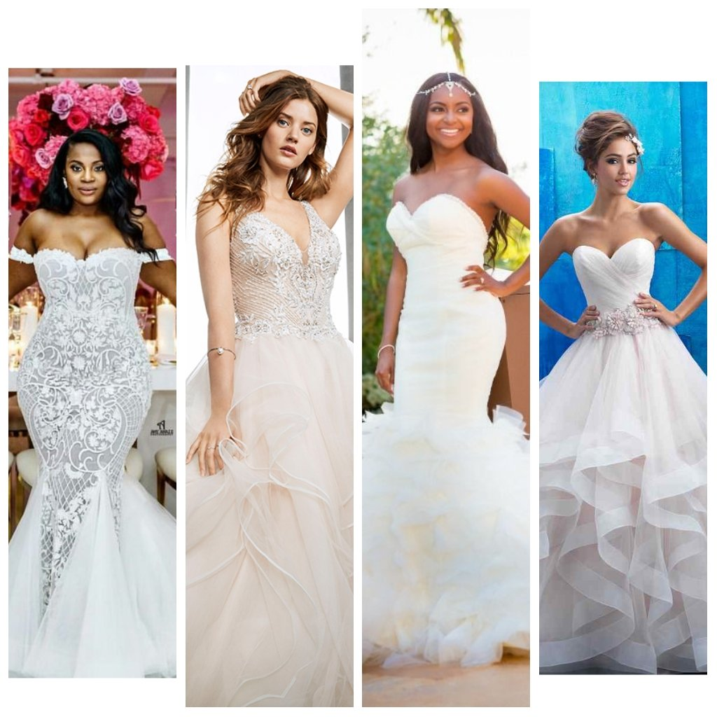 Check Out 8 Wedding Gown Styles,Their Names And Ideal Body Types To Match