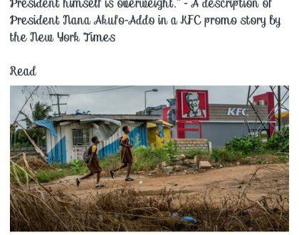 "Ghanaians Attack NewYork Times For ""Distasteful"" Description of President Nana Addo On Social Media"