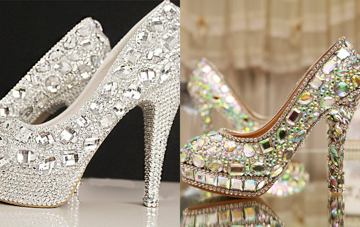 791a7cdba267b Bridal look is enormously significant so you have to keep your treatment  fancy to tackle this special look. Select a fine crustal embellished high  heel shoe ...
