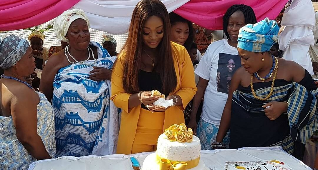 Jackie Appiah Celebrates Birthday With Widows and Elderly Women