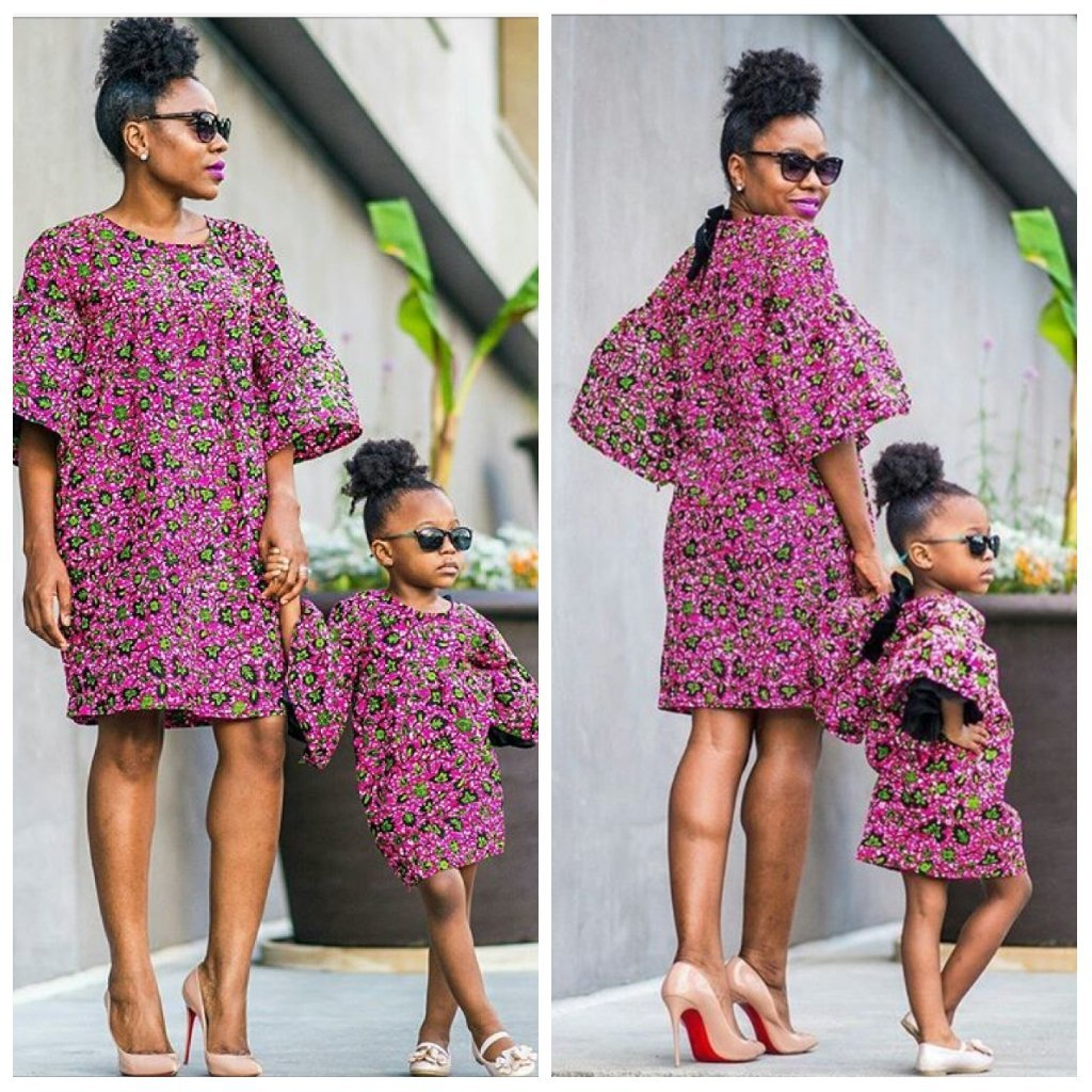 Ankara Fashion; 8 Ankara Matching Outfit Styles For Mothers & Daughters(Photos)