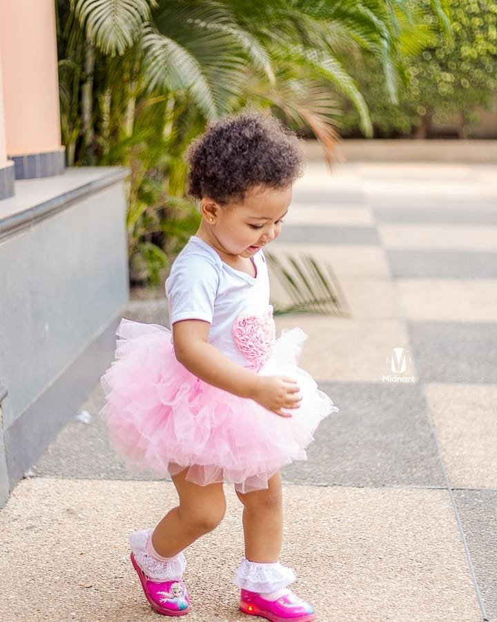 photos one year old baby exhibits her modelling skills ghafla ghana