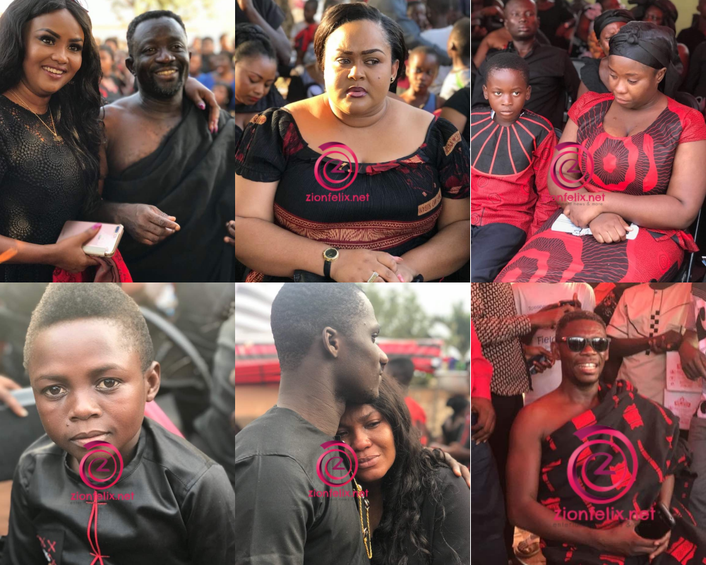 (Photos) See All The Stars At Maame Serwaa's Mum's Funeral