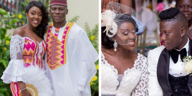 Image result for stonebwoy and wife his father