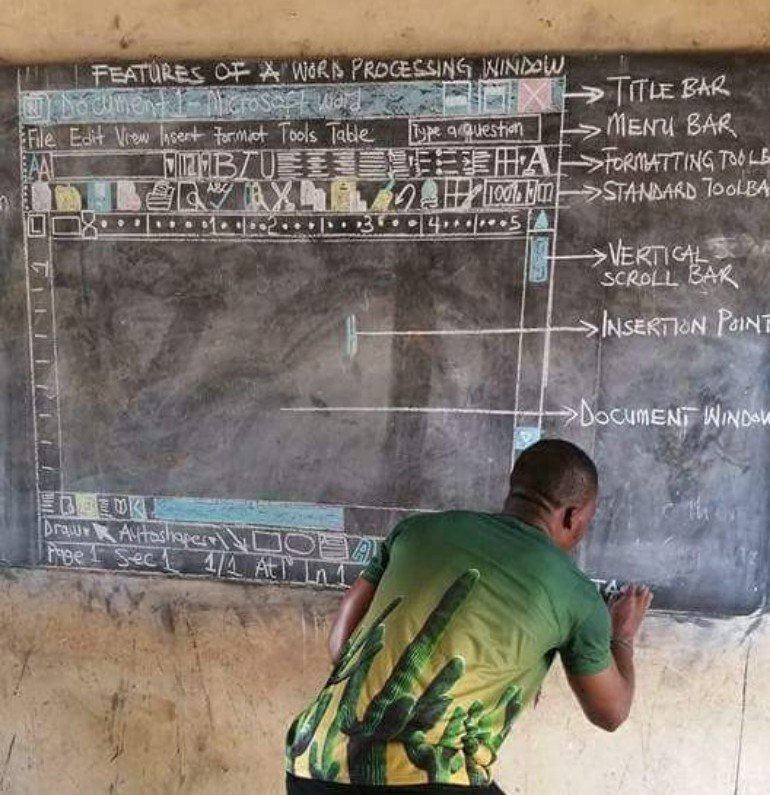Microsoft sends African teacher computer after photo goes viral