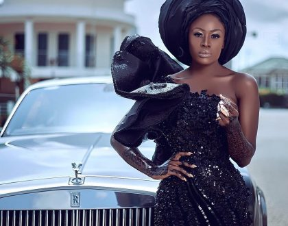 Photos: Nana Akua Addo Leaves No Stone Unturned, Slays In Breathtaking Black Outfit