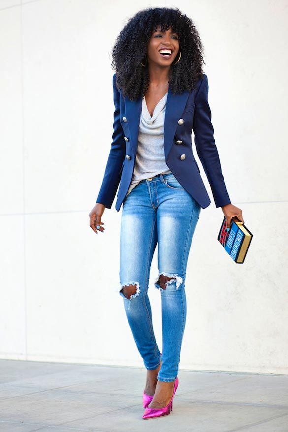 Image result for corporate casual looks on black women