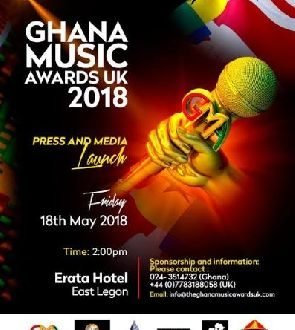 Change of venue:Ghana Music Awards UK To Be launched in Ghana At Erata Hotel