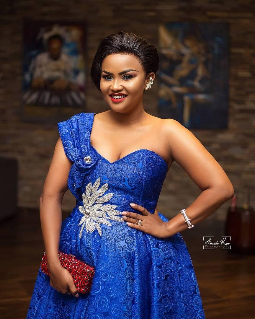 Nana Ama McBrown Stuns In Blue - Ghafla! Ghana