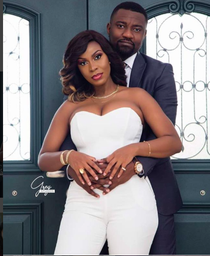 John Dumelo And Wife, Gifty Look Radiant In White