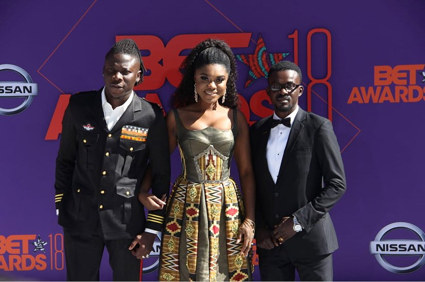 Checkout How Becca, Stonebowy And Nana Appiah Rocked On The 2018 BET Red Carpet(Photos)