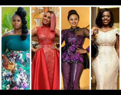 PHOTOS: Checkout How Your Favorite Celebs Rocked The Red Carpet At The 2018 Golden Movie Awards Africa