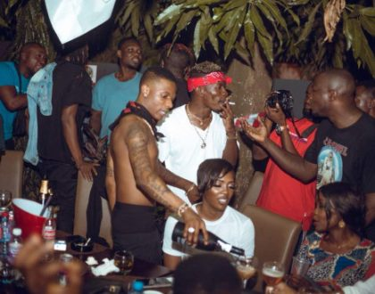 Shatta Wale,Wizkid, Tiwa Savage,Mugeez,Others Party At Kikibees(Photos)