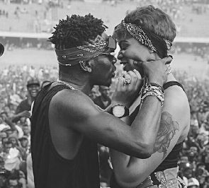 Shatta Wale Begs Michy To Allow Him 'Eat' Her Once Again