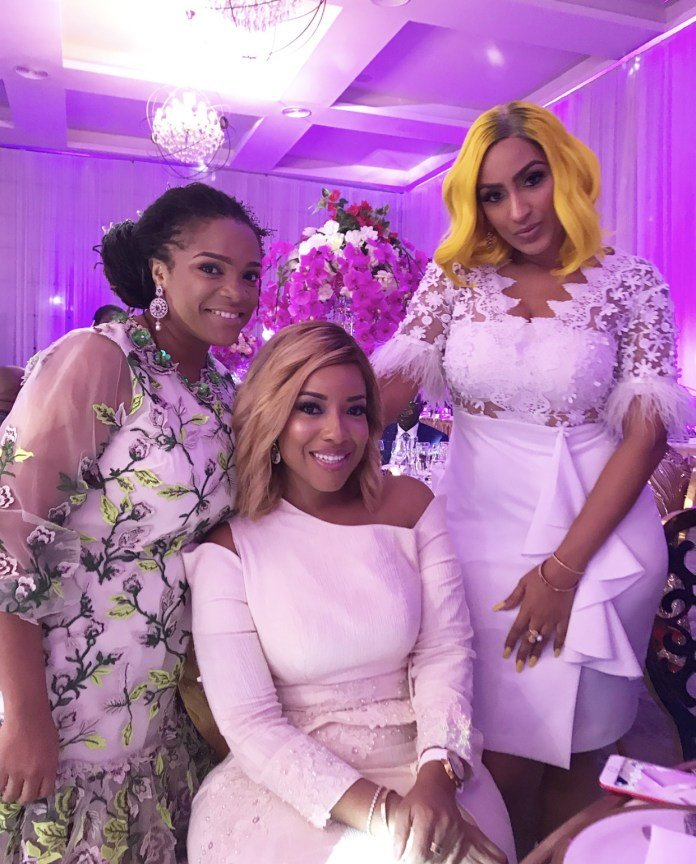 Celebrities At Sarkodie And Tracy's White Wedding