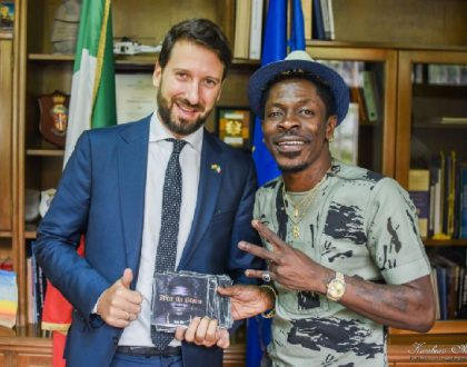 Shatta Wale Discusses Partnership With The Italian Embassy(PHOTOS)