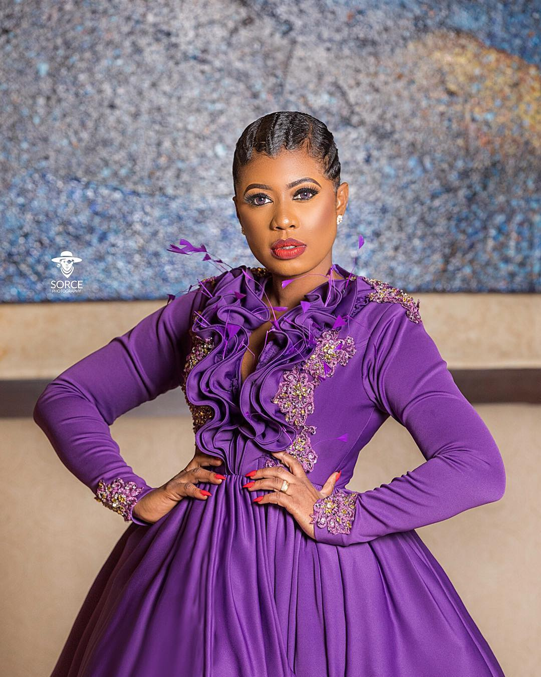 Selly Ghalley Stuns In Purple Ball Gown At EMY Africa Awards 2018(PHOTOS)