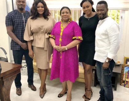 Yvonne Nelson, Kafui Danku, Adjetey Anang Meet With 1st Lady Rebecca Akufo-Addo