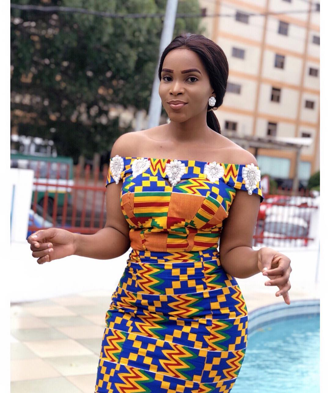 Bendicta Gafah Stuns In Kente Dress(PHOTOS)