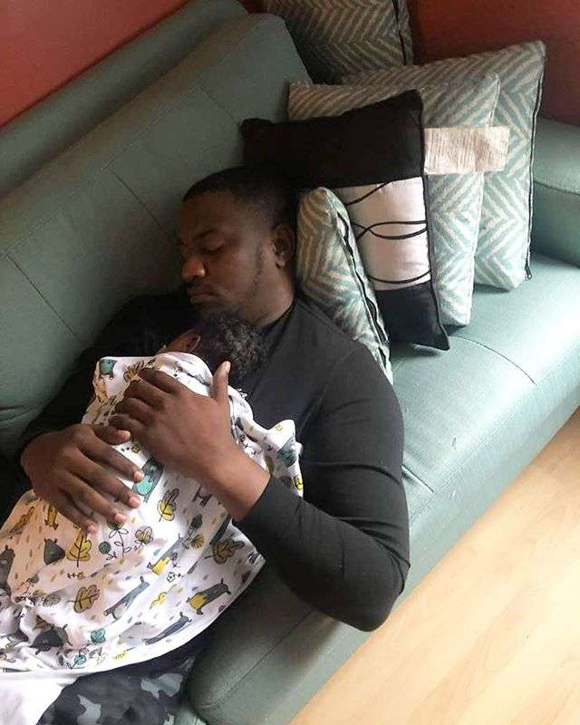 4 Cute Photos Of John Dumelo And His Son