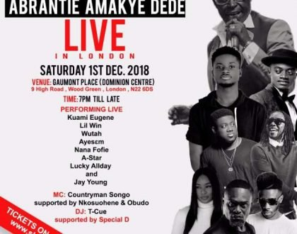 Amakye Dede, Kuami Eugene, Others In A Pre-Christmas Clash In London Concert
