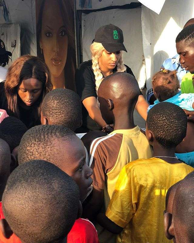 Juliet Ibrahim Feeds 5,000 Street Kids In Nigeria