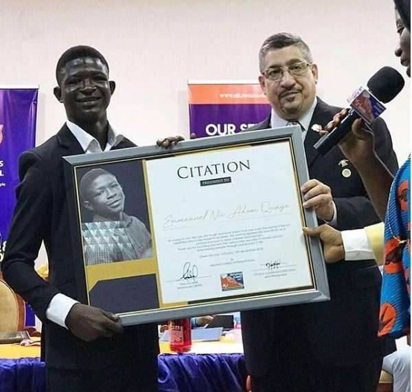 Strika Rewarded For His Role In 'Beast Of No Nations'(PHOTO)