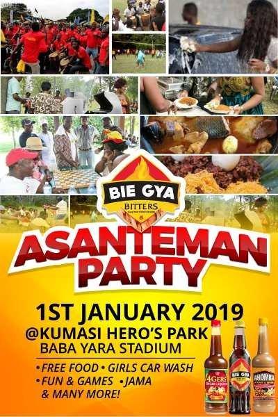 Bie Gya Bitters To Host Asanteman Party On January 1