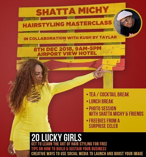 Shatta Michy To Host Exclusive Hair Styling Masterclass