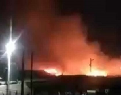 Raging Fire Consumes Nkrumah Circle Market