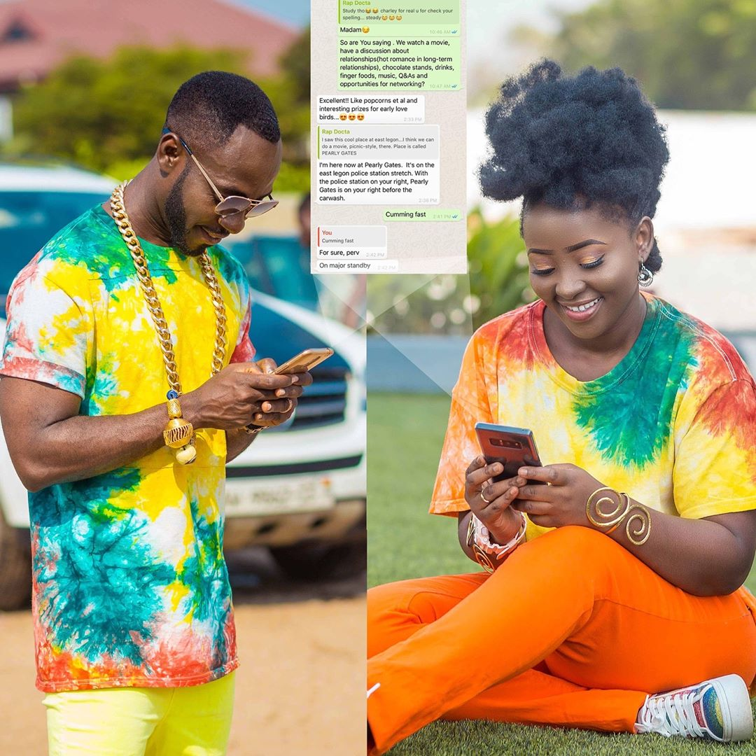 Checkout The Lovely Whatsapp Chat Between Okyeame Kwame And Wife For This Year's Vals Day