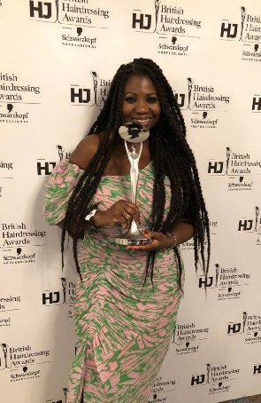 First Black Woman To Be Inducted Into The British Hairdressers Hall Of Fame Is A Ghanaian