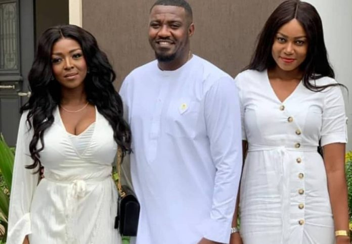John Dumelo And Wife Outdoor Son With Yvonne Nelson, Okoro & Nadia Buari
