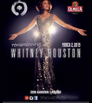 'Remembering Whitney Houston' To Be Hosted At Zen Garden On March 2