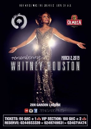 Efya, YaaYaa, Lady Jay, Others To Perform At 'Remembering Whitney Houston' On March 2