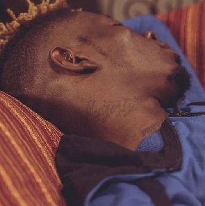 Shatta Wale Tattoos His Son's Name, 'Majesty' On His Neck(PHOTO)