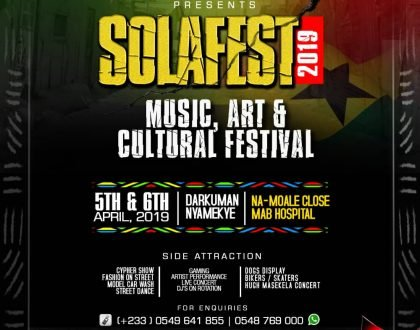 Shatta Wale, Lilwin, Many Others For SOLAFEST Music, Art & Cultural Festival