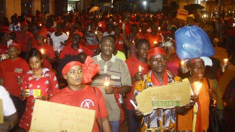 Takoradi Holds Vigil For Kidnapped Girls
