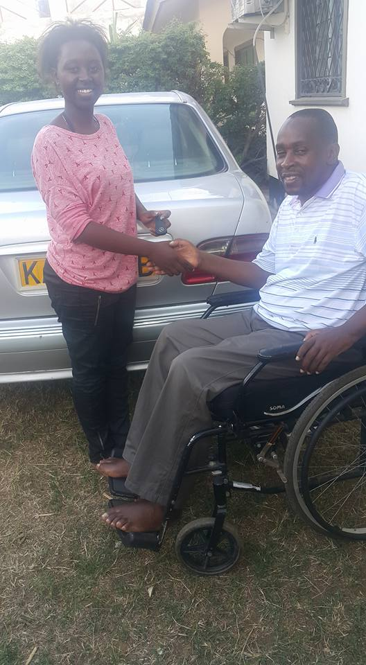 richard-chacha-buys-his-daughter-a-car-after-excelling-in-2016-kcse