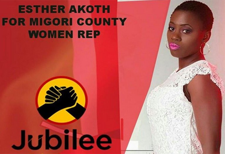 Akothee campaign poster