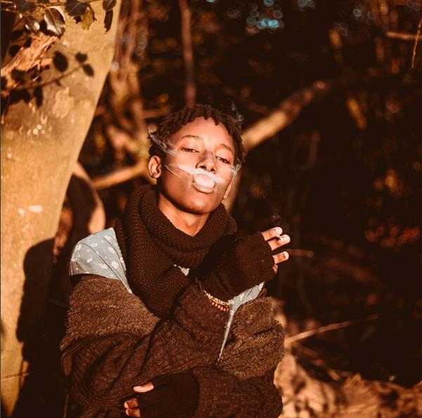 Almasi of machachari smokes weed