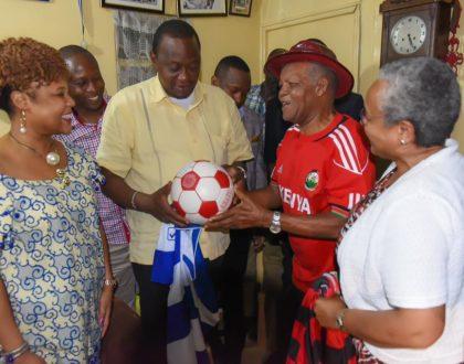 5 important things that President Uhuru did when he met sickly football legend Joe Kadenge