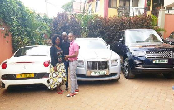 Meet SK Mbuga, the tycoon who isn't afraid of living like a drug lord. He owns Rolls Royce, Ferrari, Hummers and other high end cars (Photos)