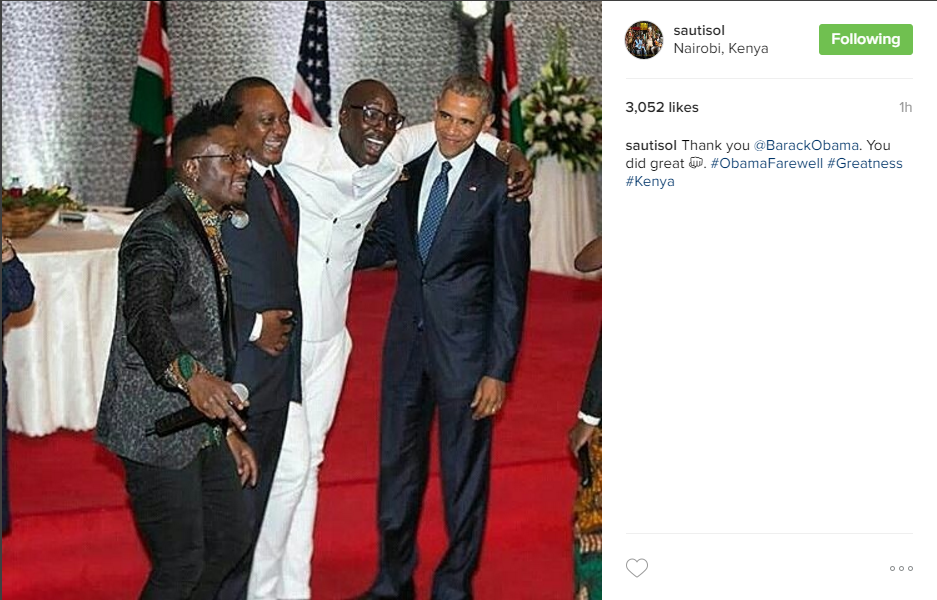 Sauti Sol performed for Obama last year so we can understand why they got all nostalgic