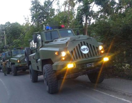 Leta fujo uone! Photos of the 25 fierce armored fighting vehicles President Uhuru has equipped the police with