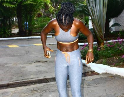 Finally her six pack abs appears! Akothee's workout pays off as she gets the perfect belly that most ladies would die for (Photos)